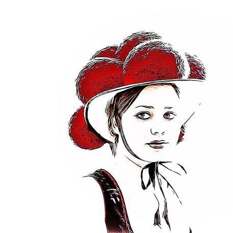 'Schwarzwaldmaedel' von Gregor Luschnat bei artflakes.com als Poster oder Kunstdruck $16.63