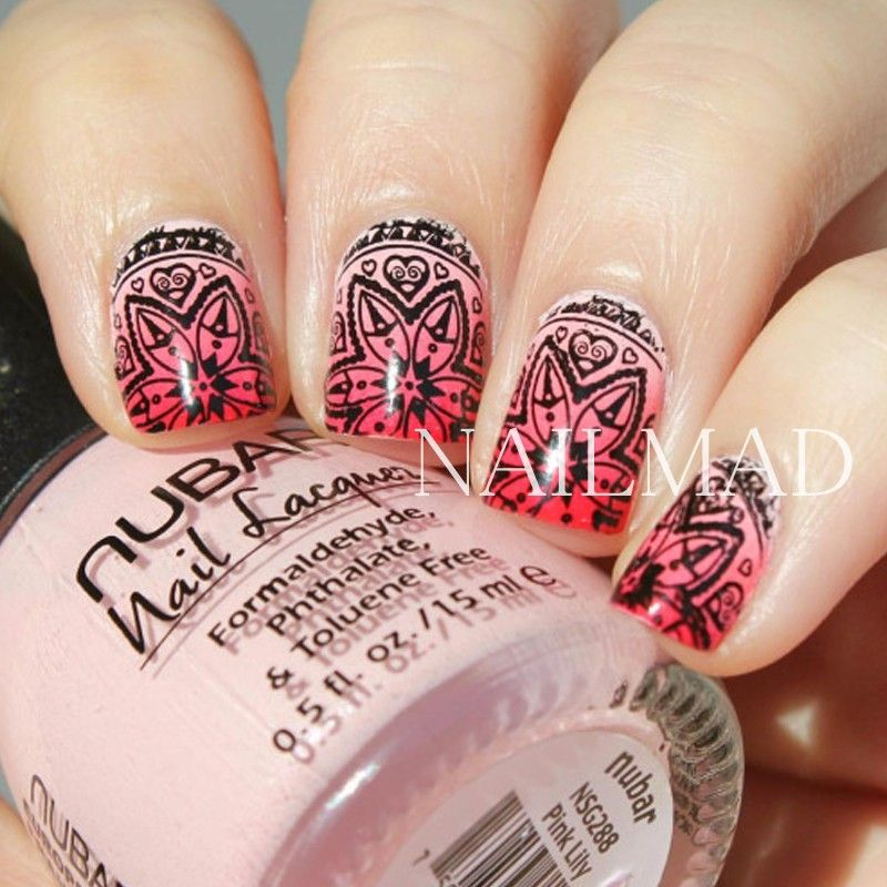 1pc Mandala Nail Art Stamp Plate Mandara Plate Paisley Stamping ...