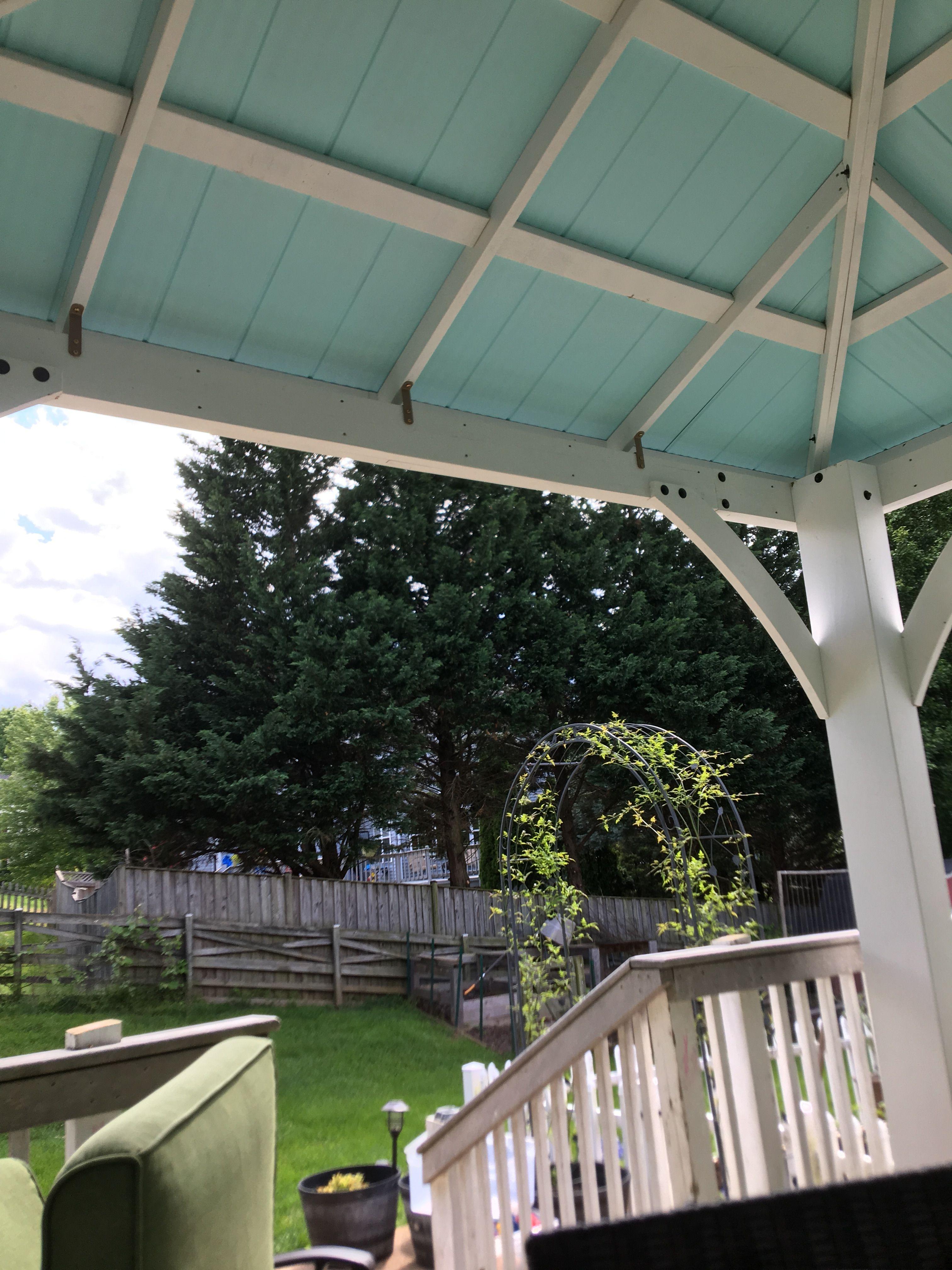 Painted The Costco Gazebo Costco Gazebo Pergola Garden Gazebo