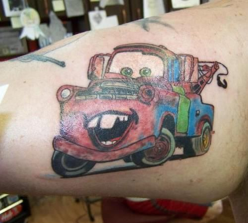 Disney tattoos old tow truck tattoo disney cars for Truck tattoos designs