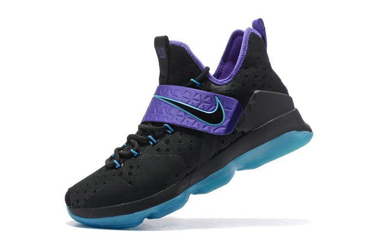 half off 256e7 69063 Latest LBJ Sneakers Cheap Cheap Size US 7 7.5 9 10.5 13 LeBron 14 XIV  Hornets Black Clup Purple