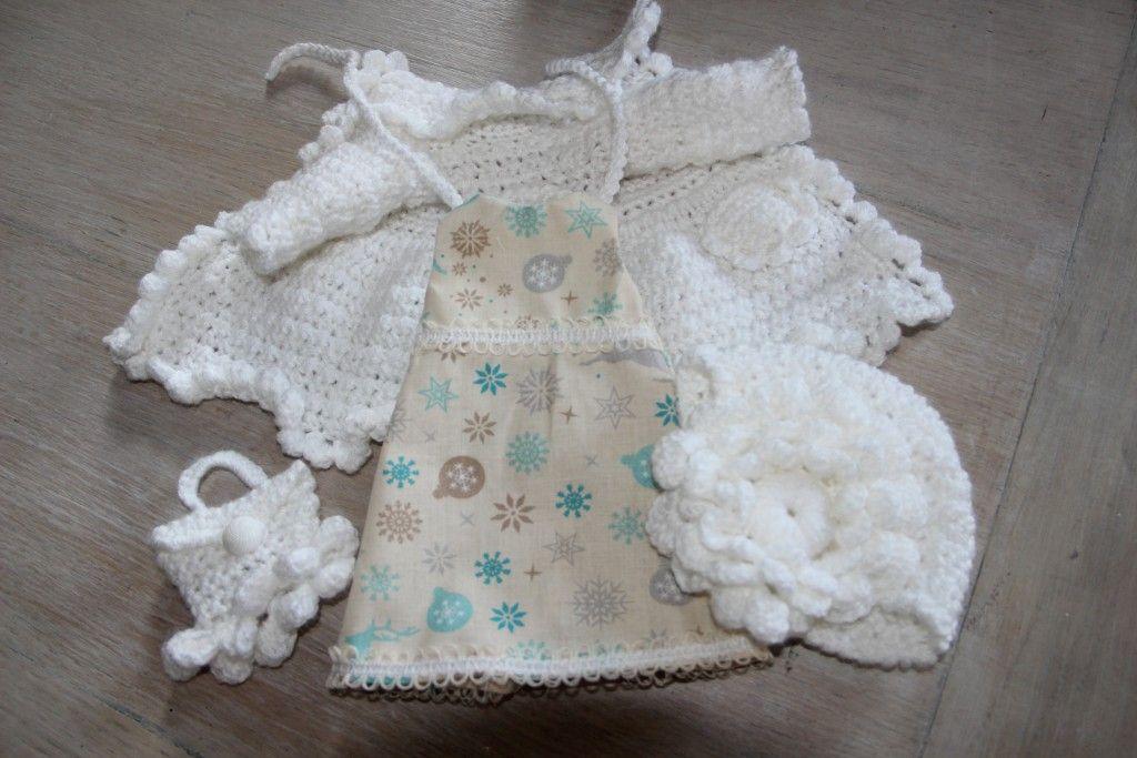 Vêtements de noel poupée minouche