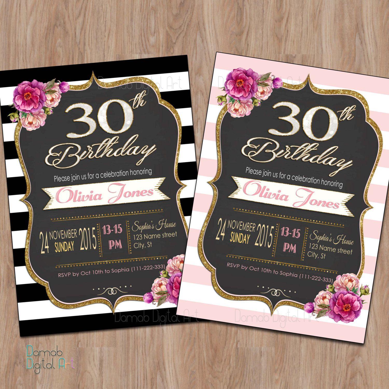Einladungen 30 Geburtstag Vorlagen Geburtstag Einladung 30th