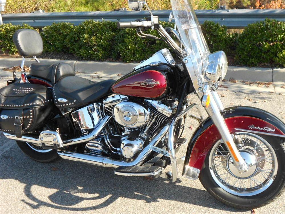 harley davidson motorcycles heritage softail | red/black 2005