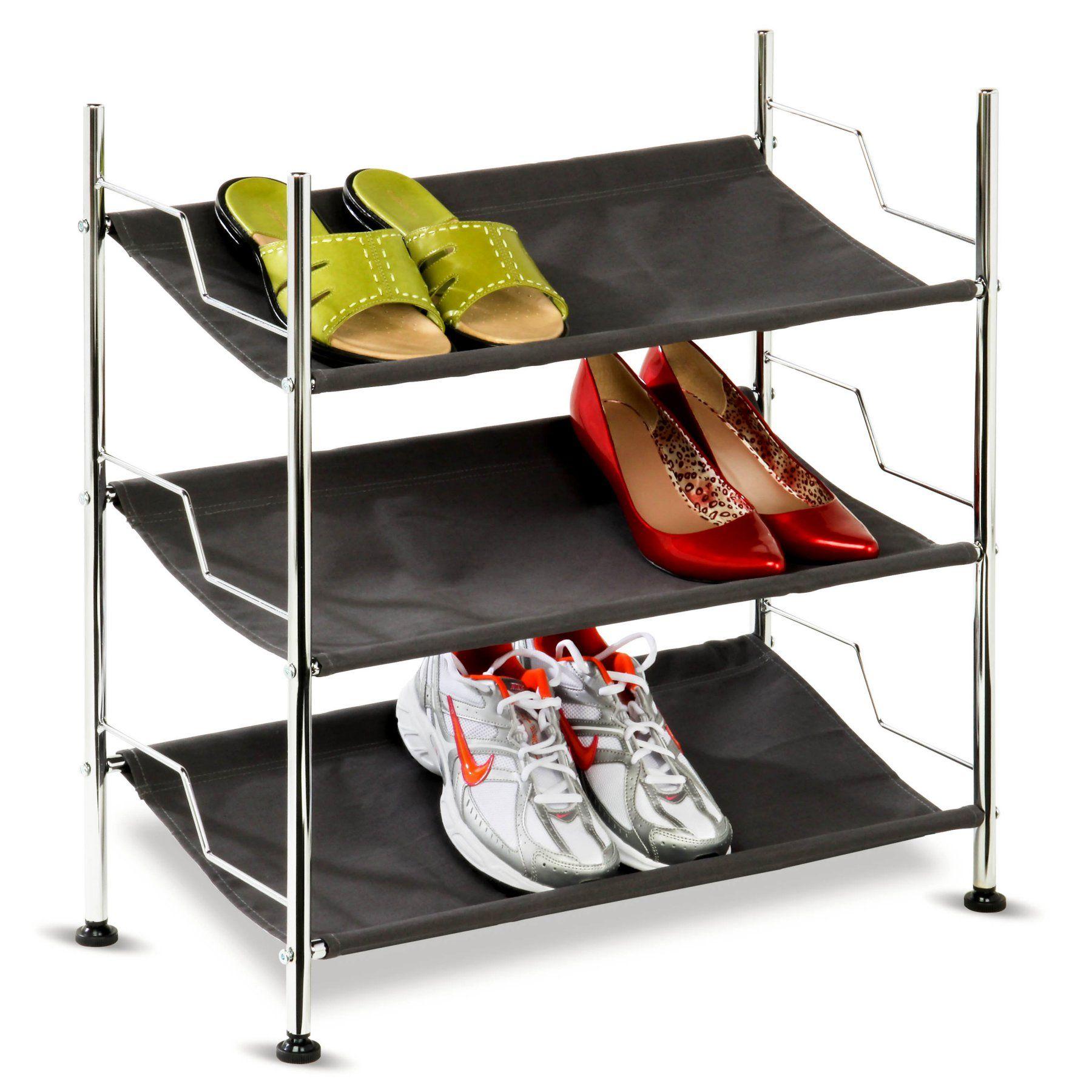 Honey Can Do 3 Shelf Shoe Rack Shoe Rack 3 Shelf Shoe Rack