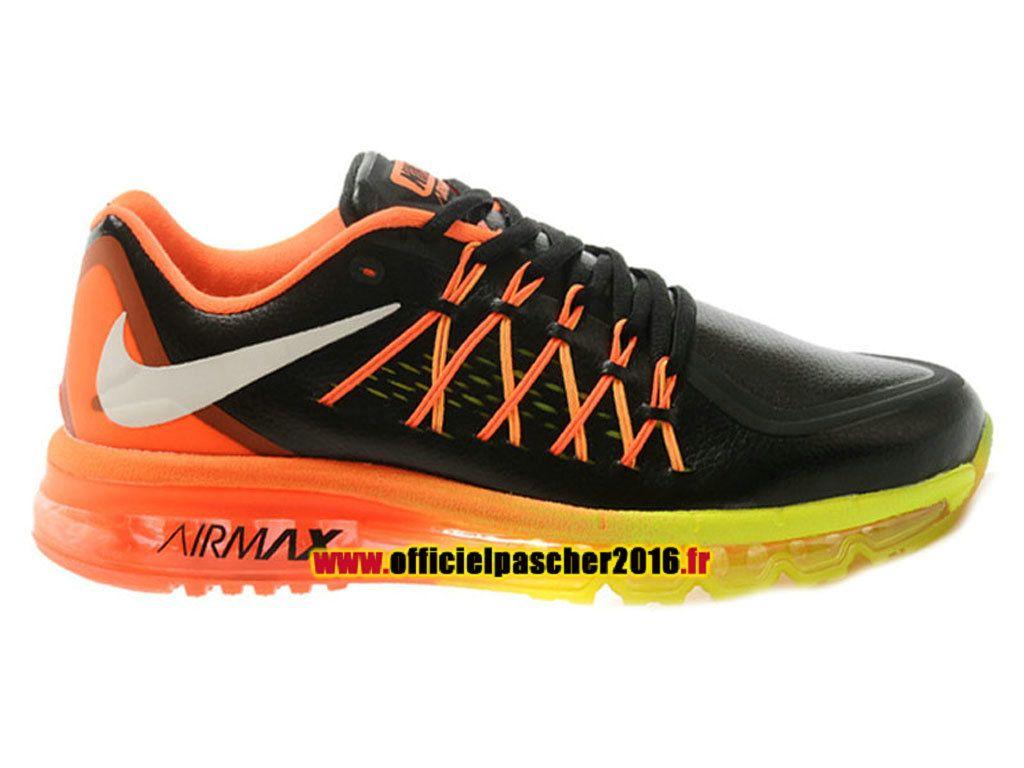 new concept 47e73 5b9a5 Nike Air Max 2015 Chaussures Nike Running 2016 Pas Cher Pour Homme Noir    Orange