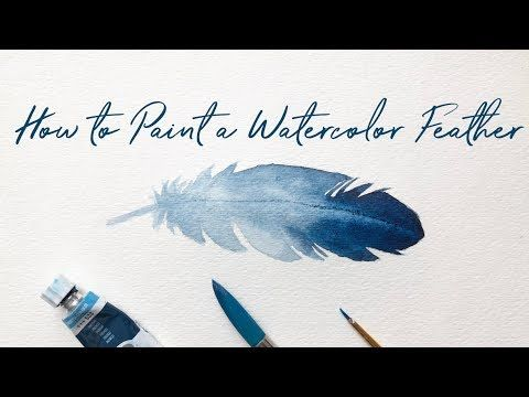 How to Paint a Watercolor Feather for Beginners   Easy Watercolor Feathers
