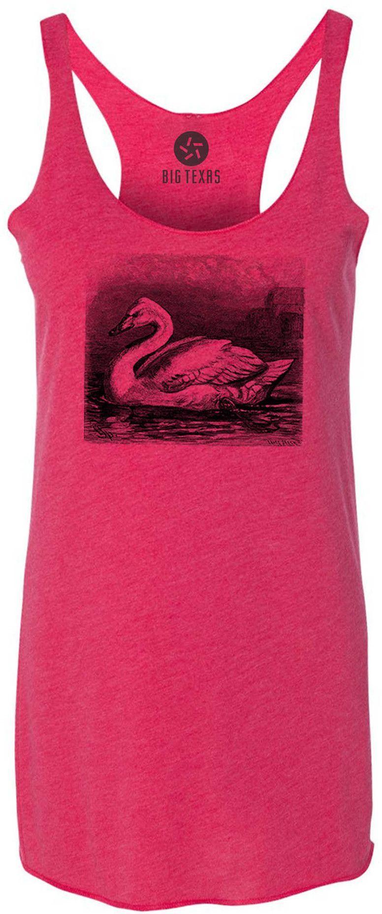 Majestic Swan (Black) Tri-Blend Racerback Tank-Top