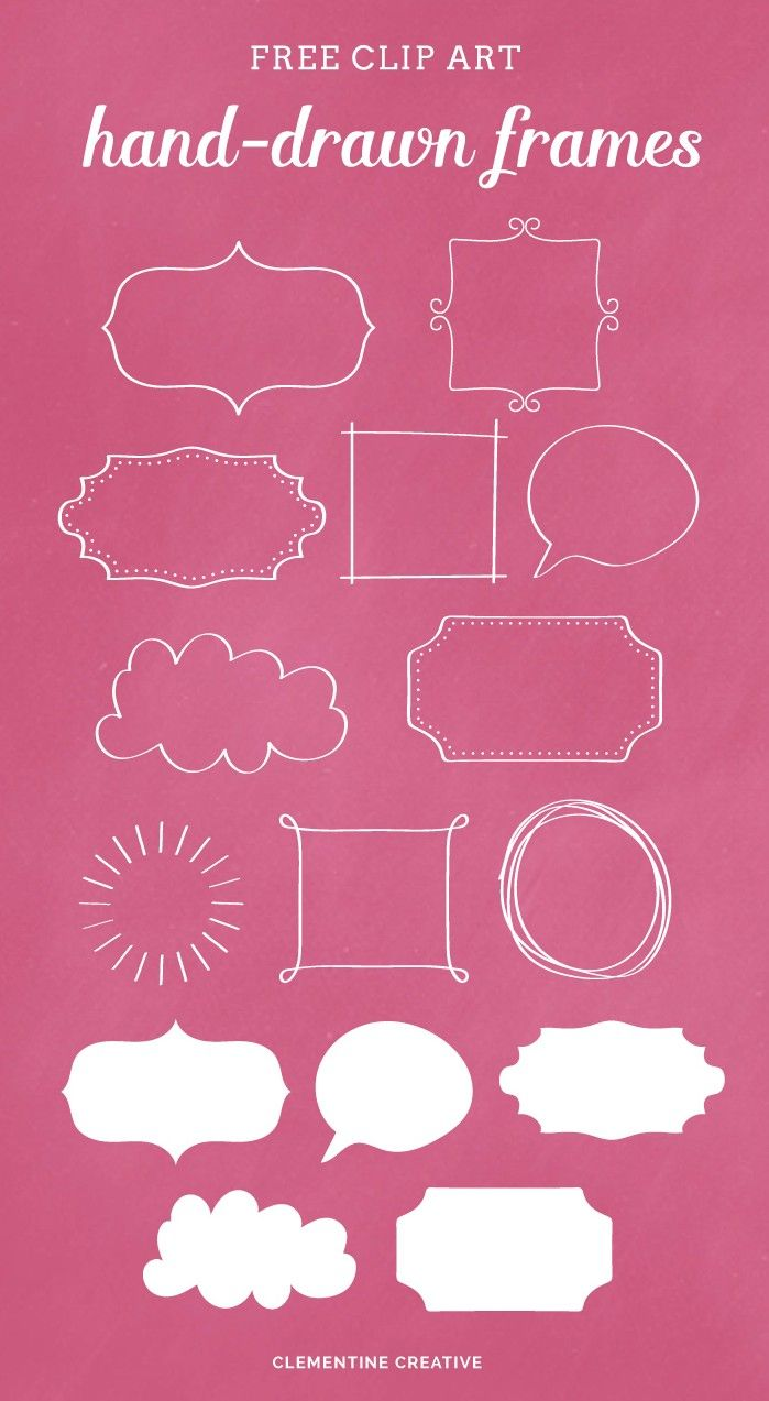 Hand-drawn Frames {Free Clip Art} | Creative Resources ...
