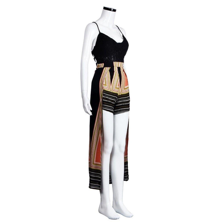 sannysis damen spitze jumpsuit kurze hose bodycon kleid
