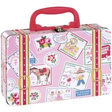 Kids Mini Suitcase Flowers PINK   キッズミニスーツケース