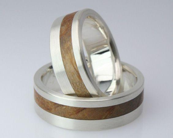 Trauringe hochzeit silber  Trauringe Holz - Bildergalerie | Trauring, Holz und Eheringe