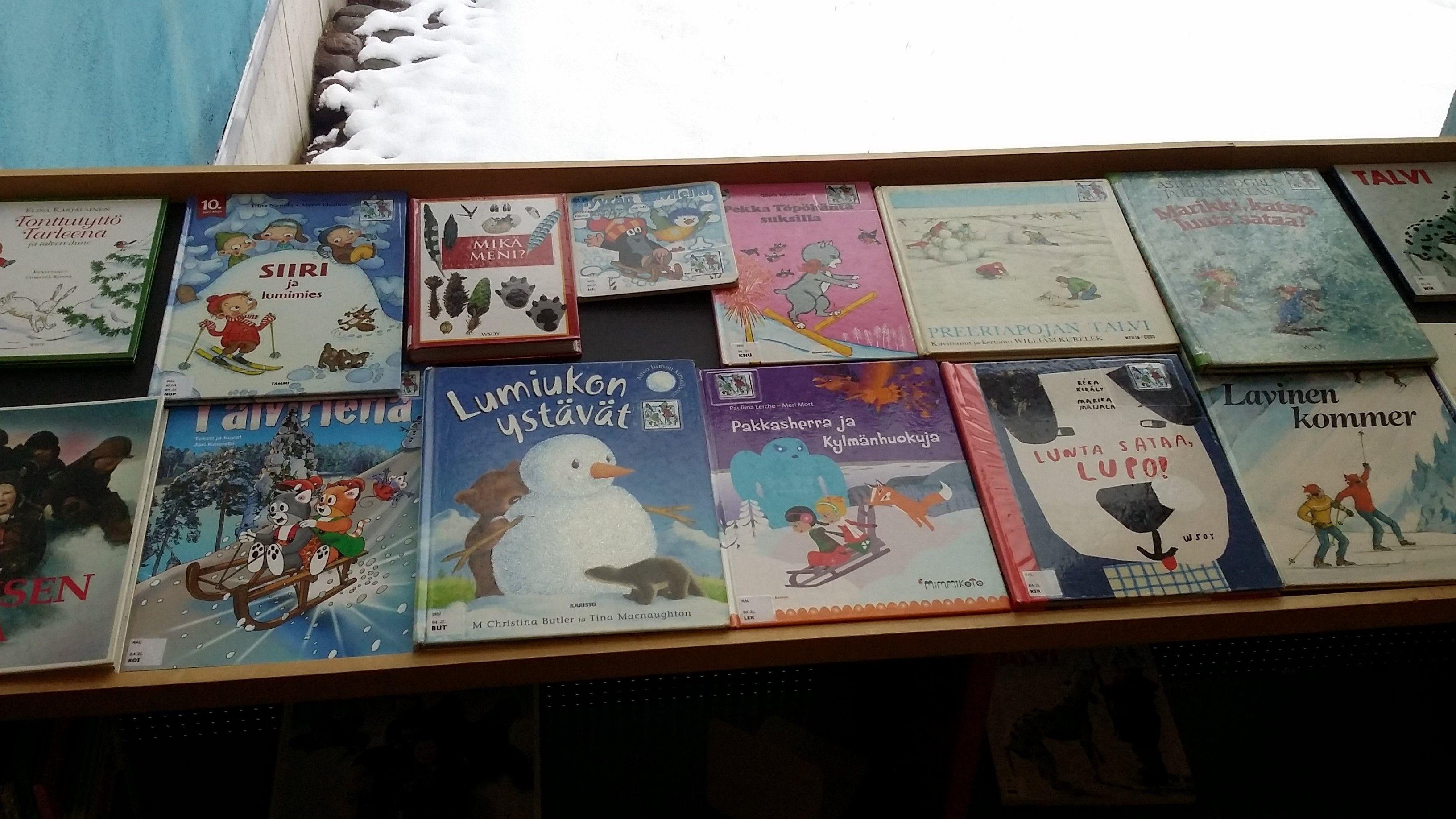 Talvi-aiheisia kirjoja