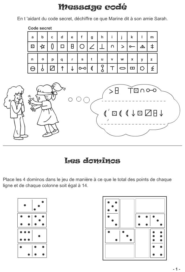 Bien-aimé Message codé, jeu avec des dominos (7ans et plus) | Zosia  BC84