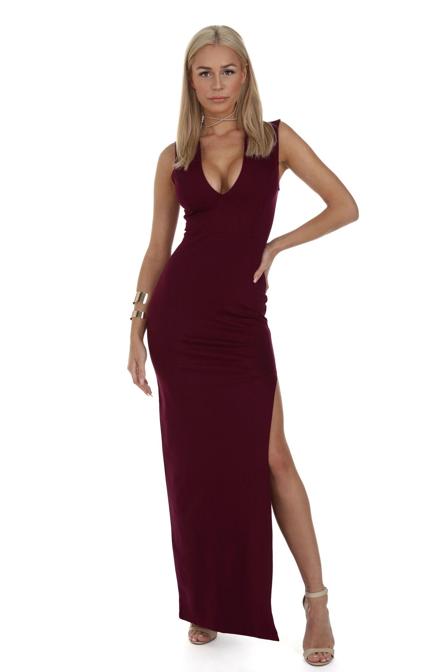 Jennifer Burgundy Deep V Dress   windsor   cute dresses   Pinterest ...