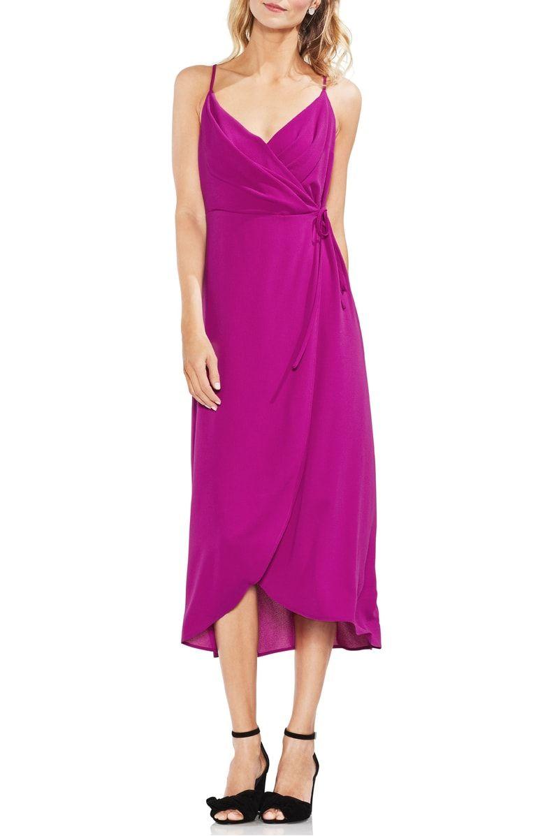 Vince Camuto Soft Texture Faux Wrap Midi Dress Nordstrom Wrap Dress Maxi Wrap Dress Dresses [ 1197 x 780 Pixel ]