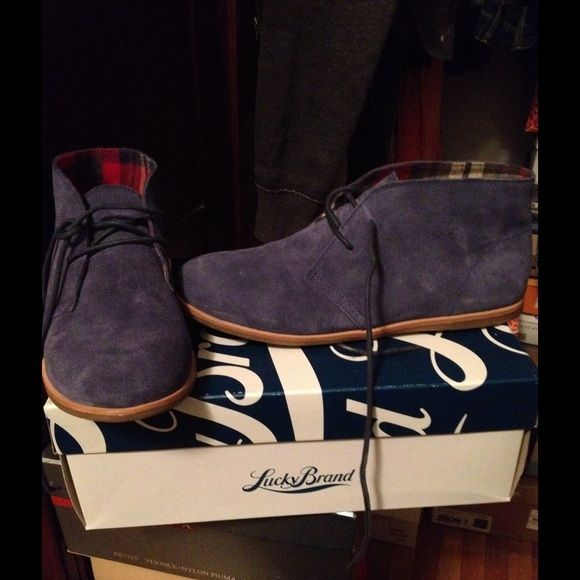 Lucky Brand booties Blue booties basically brand new only wore once Lucky Brand Shoes Ankle Boots & Booties
