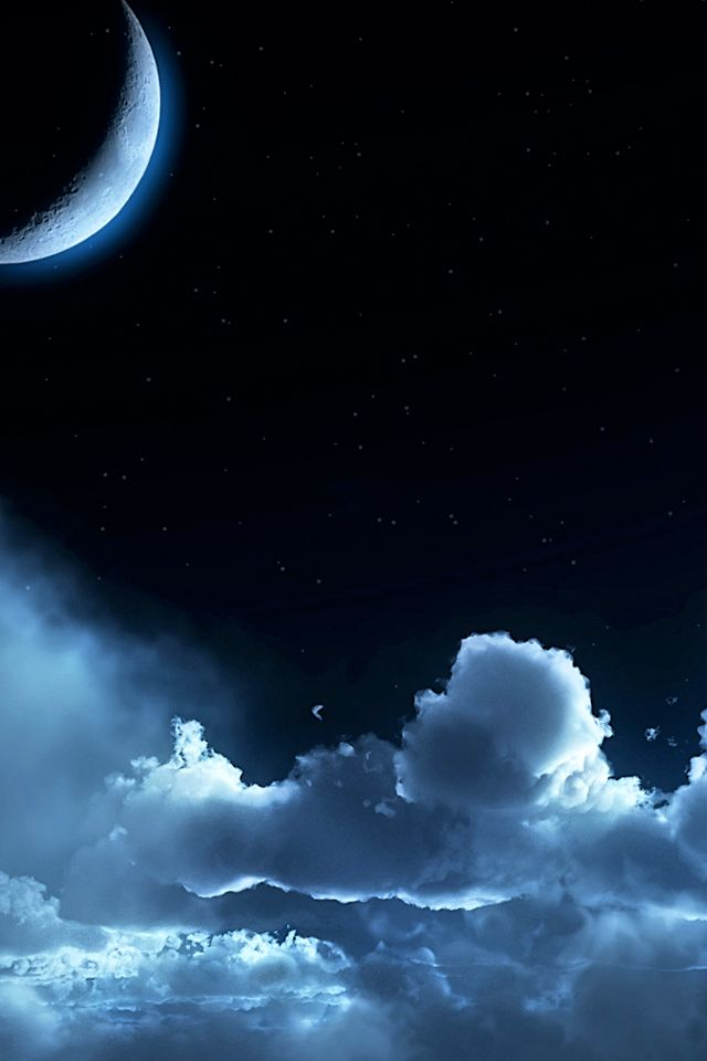 Cloudy Moon iPhone Wallpaper Download