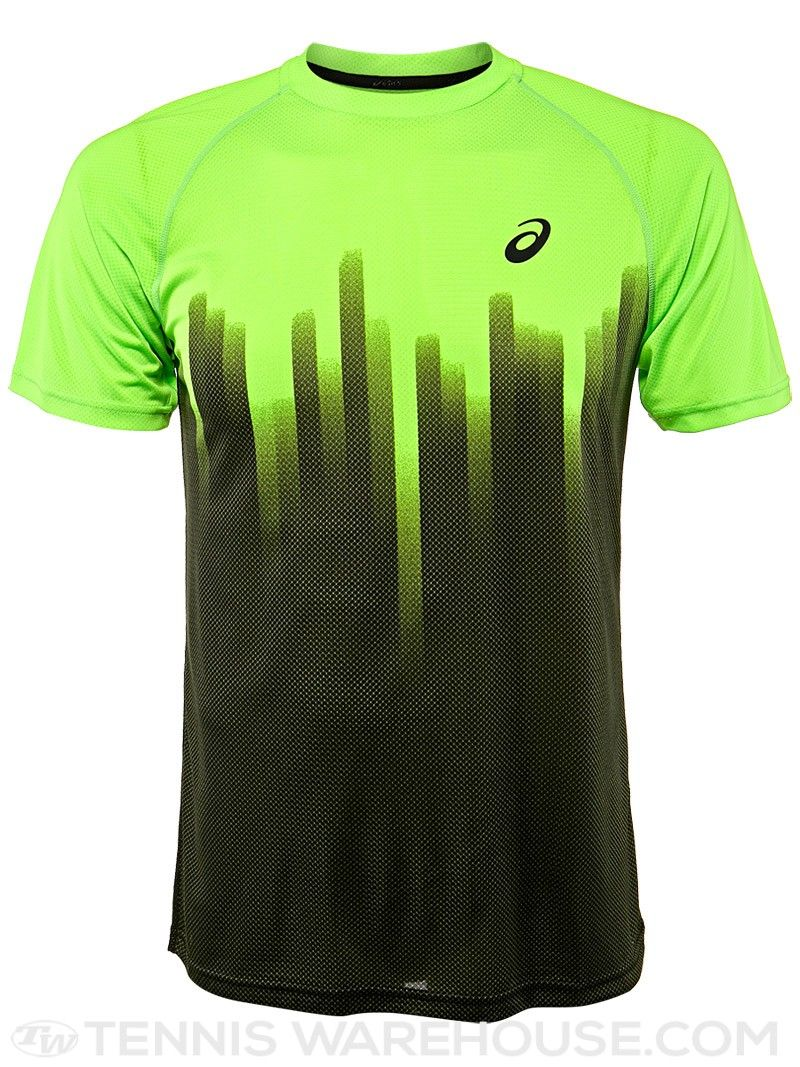 Asics Men s Fall Court Graphic Tennis Crew Tennis Wear ffe61e4c09