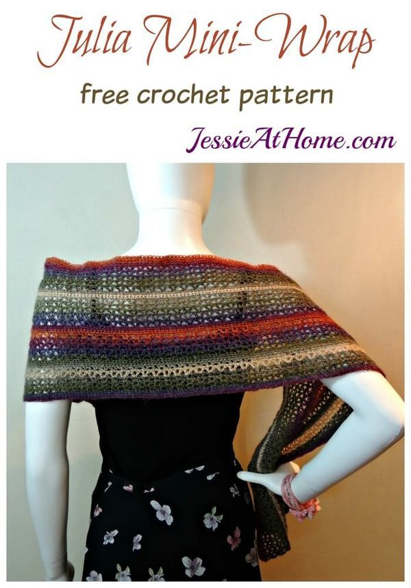 Julia Mini Wrap A Free Crochet Pattern Free Crochet Jessie And