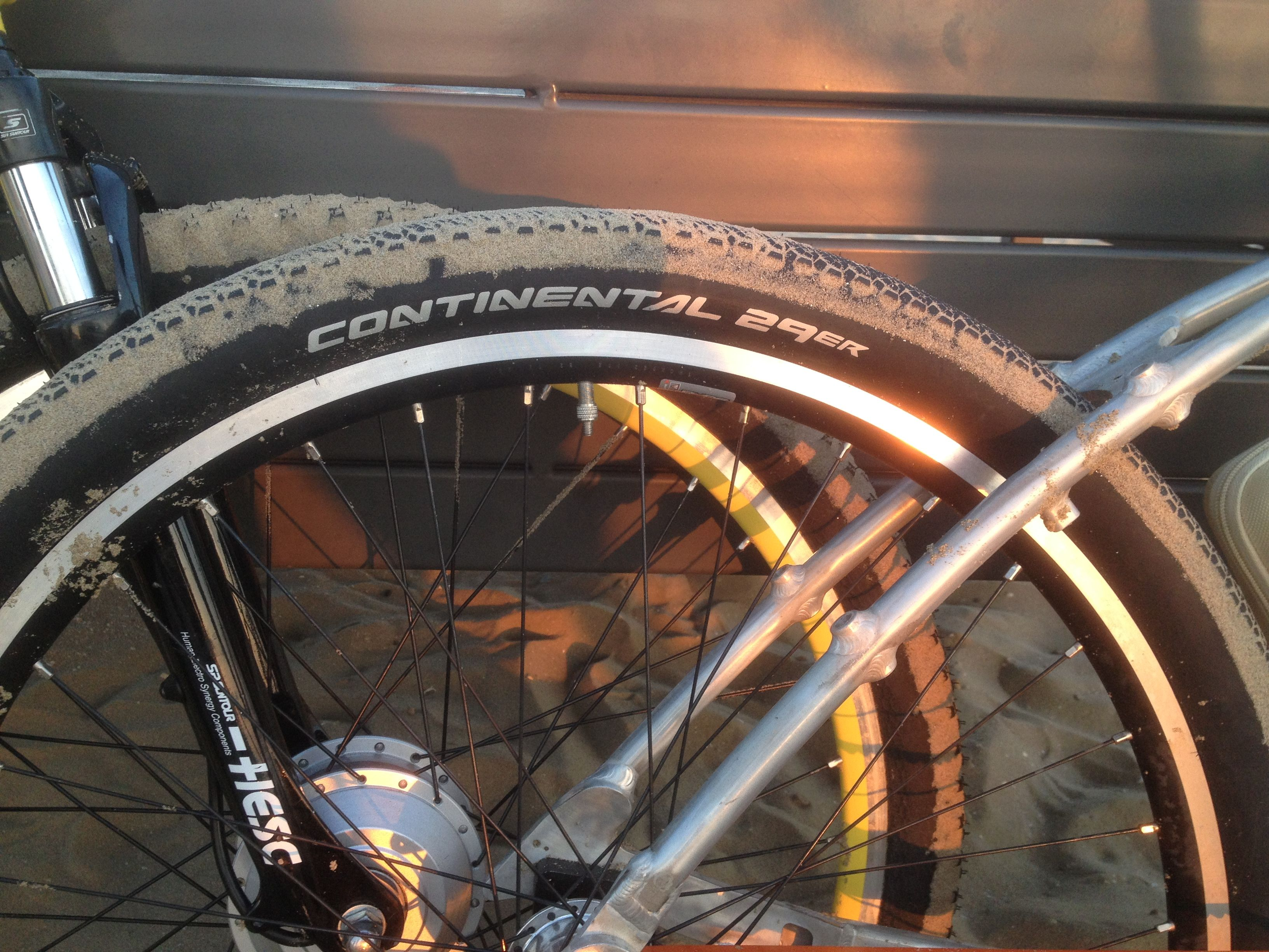 """Spiked 29"""" Off Road tires by Continental"""