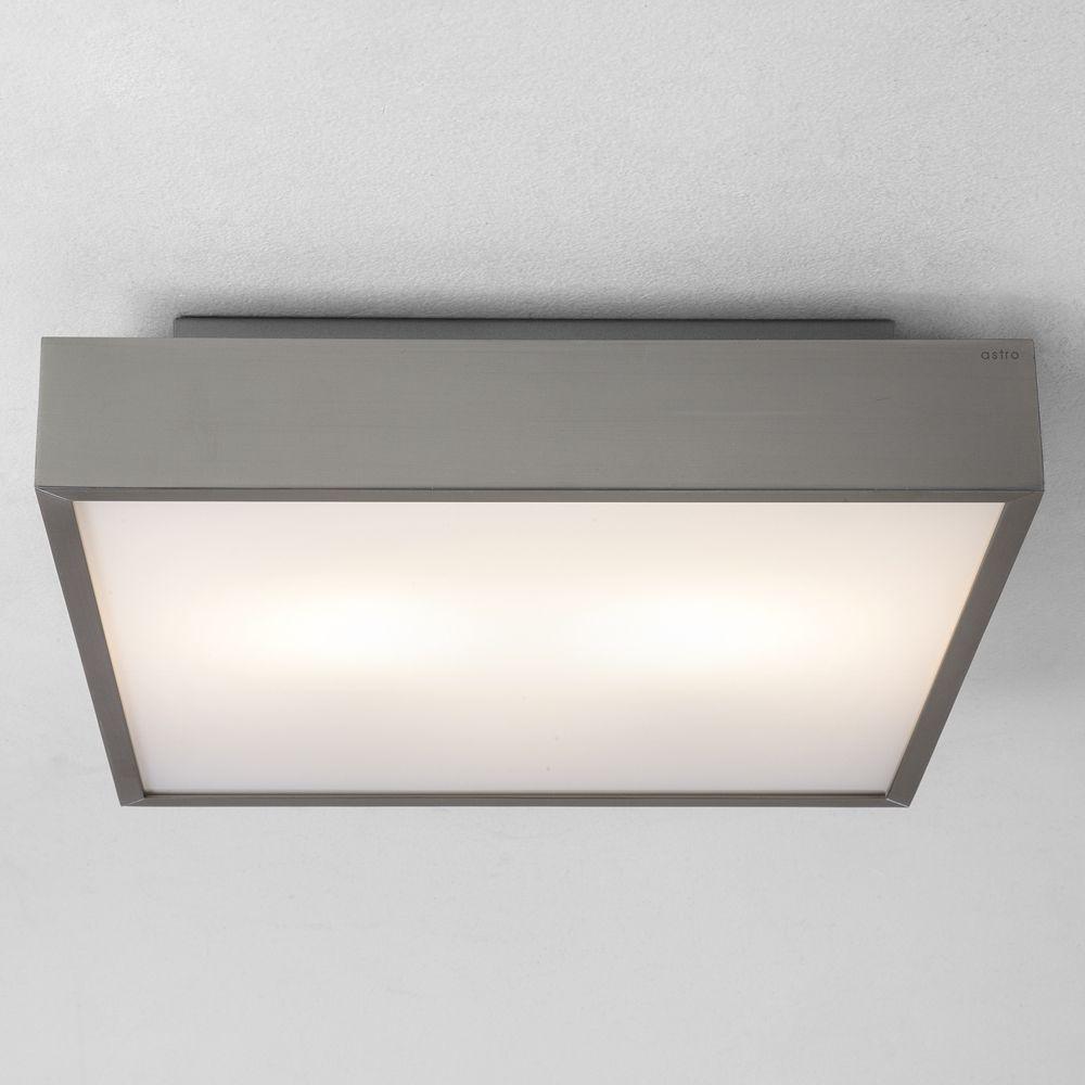 The Taketa Ceiling Lamp Has A White Satin Glass Shade With A Matt