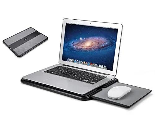 AboveTEK Portable Laptop Lap Desk w/Retractable Left/Right