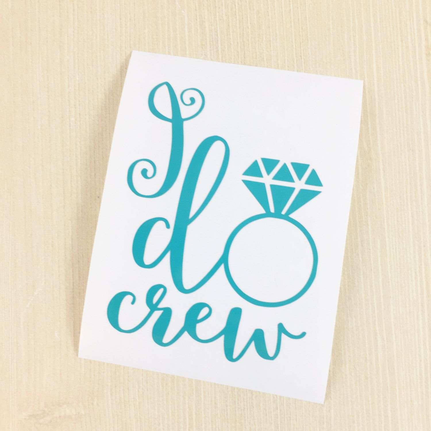 I Do Crew Decal Wedding Cup Decal DIY Bachelorette Bridal - How to make vinyl decals for cups