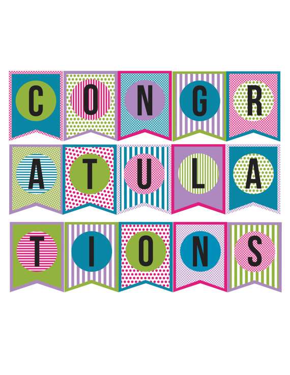Satisfactory image pertaining to congratulations banner free printable
