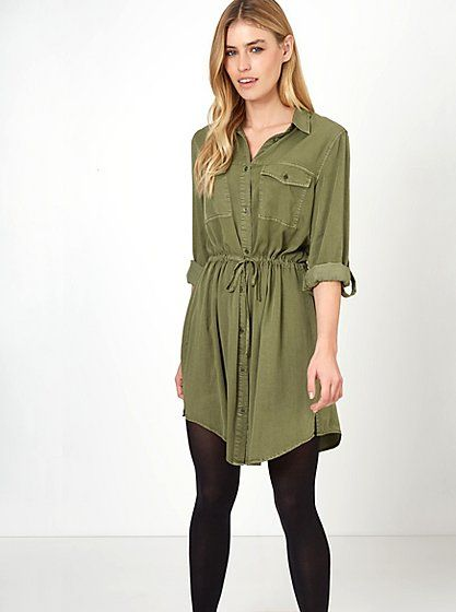 Drawstring Waist Shirt Dress, read reviews and buy online at George ...