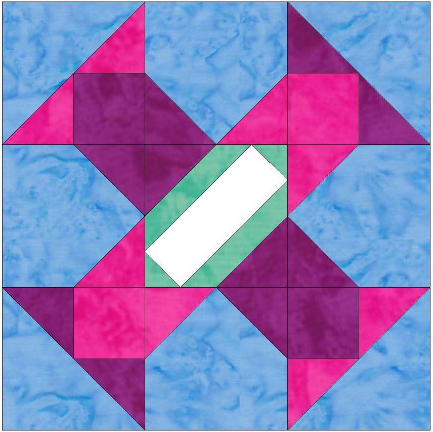 Album Block 4 - 15 Inch Block Paper Template Quilting Block ... : paper templates for quilting - Adamdwight.com