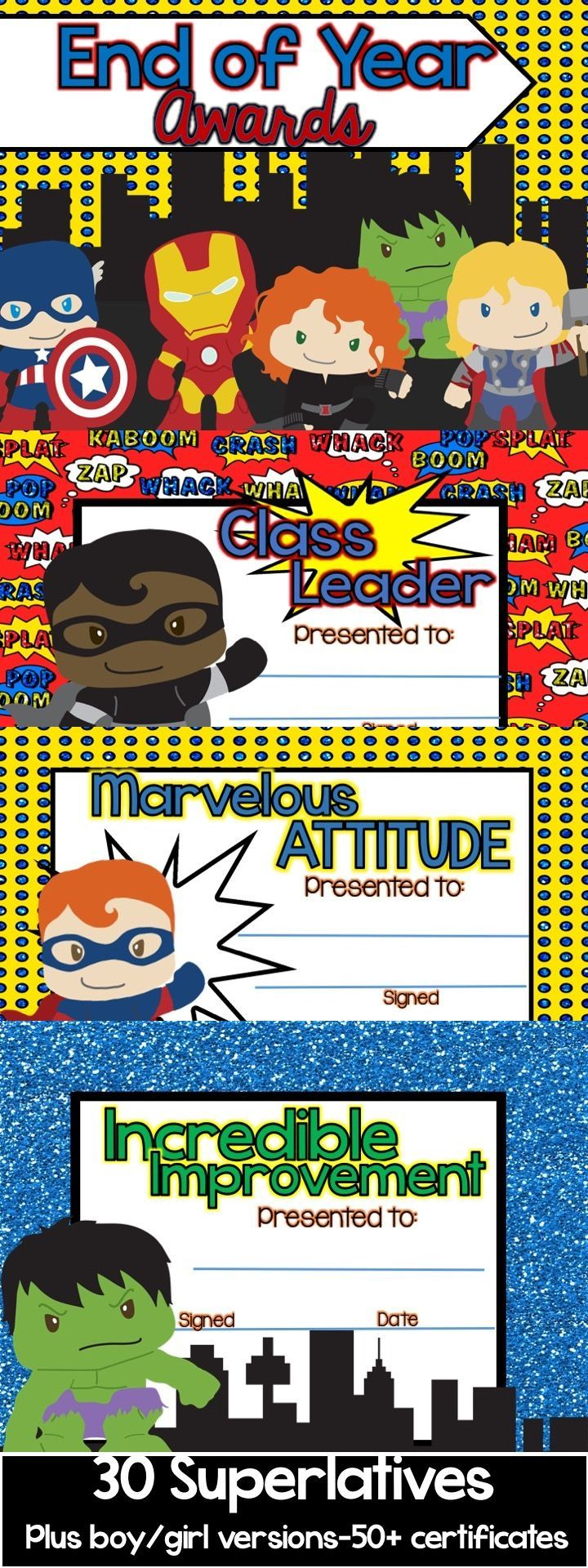 End of year awards superhero super hero theme classroom end of year awards superhero 1betcityfo Image collections