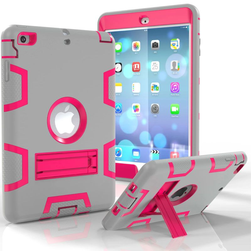 superior quality 382e3 c2fe4 For iPad Mini / iPad Mini 2 / iPad Mini 3 Heavy Duty Plastic Rubber ...