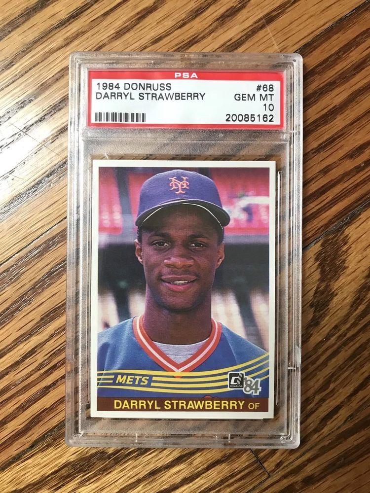 1984 darryl strawberry donruss 68 psa 10 gem mint
