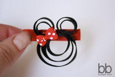 @Keisha Tillman - Minnie mouse ribbon hair clip