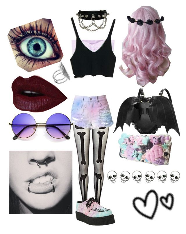 """""""Untitled #40"""" by teenagederpbagg ❤ liked on Polyvore featuring Wilfred, River Island, Cotton Candy and First People First"""