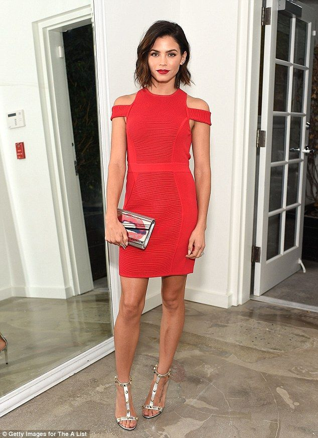 102e3c10a1 Cute in crimson  Jenna Dewan went for red at The A-List 15th birthday party  on Tuesday night in LA