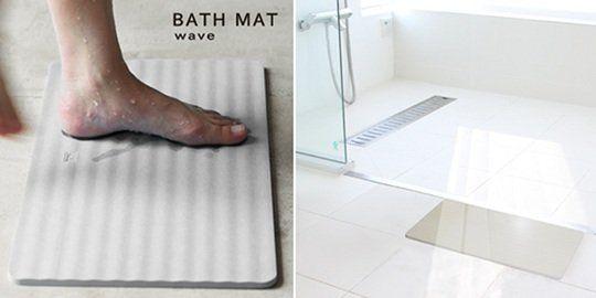 Keisodo Soil Diatom Bath Mat Wave Bath Mat Diatom Diatomaceous Earth