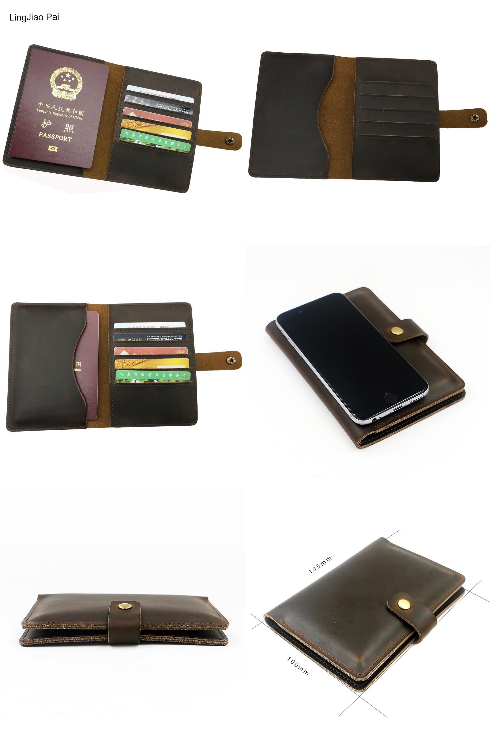 e86b604ddb16 Visit to Buy] Crazy Horse Genuine Leather Men Passport Cover ...