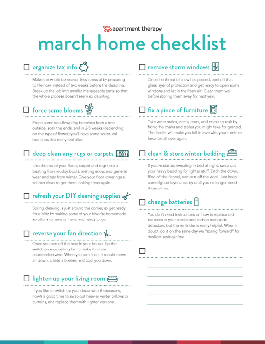 Photo of Print It Out and Get It Done: Good Things to Do in March Checklist