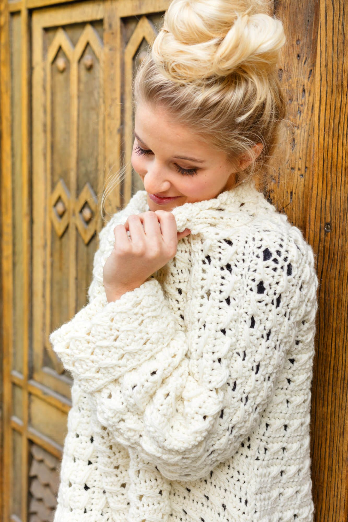 Hygge Long Pulli Im Lochmuster Vêtements Au Crochet Croché