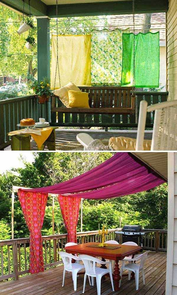 Stunning Ways to Bring Shade To Yard or Patio Porch Pinterest