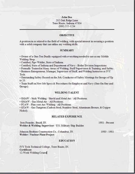 Welder Resume3 | Places to Visit | Resume skills ...