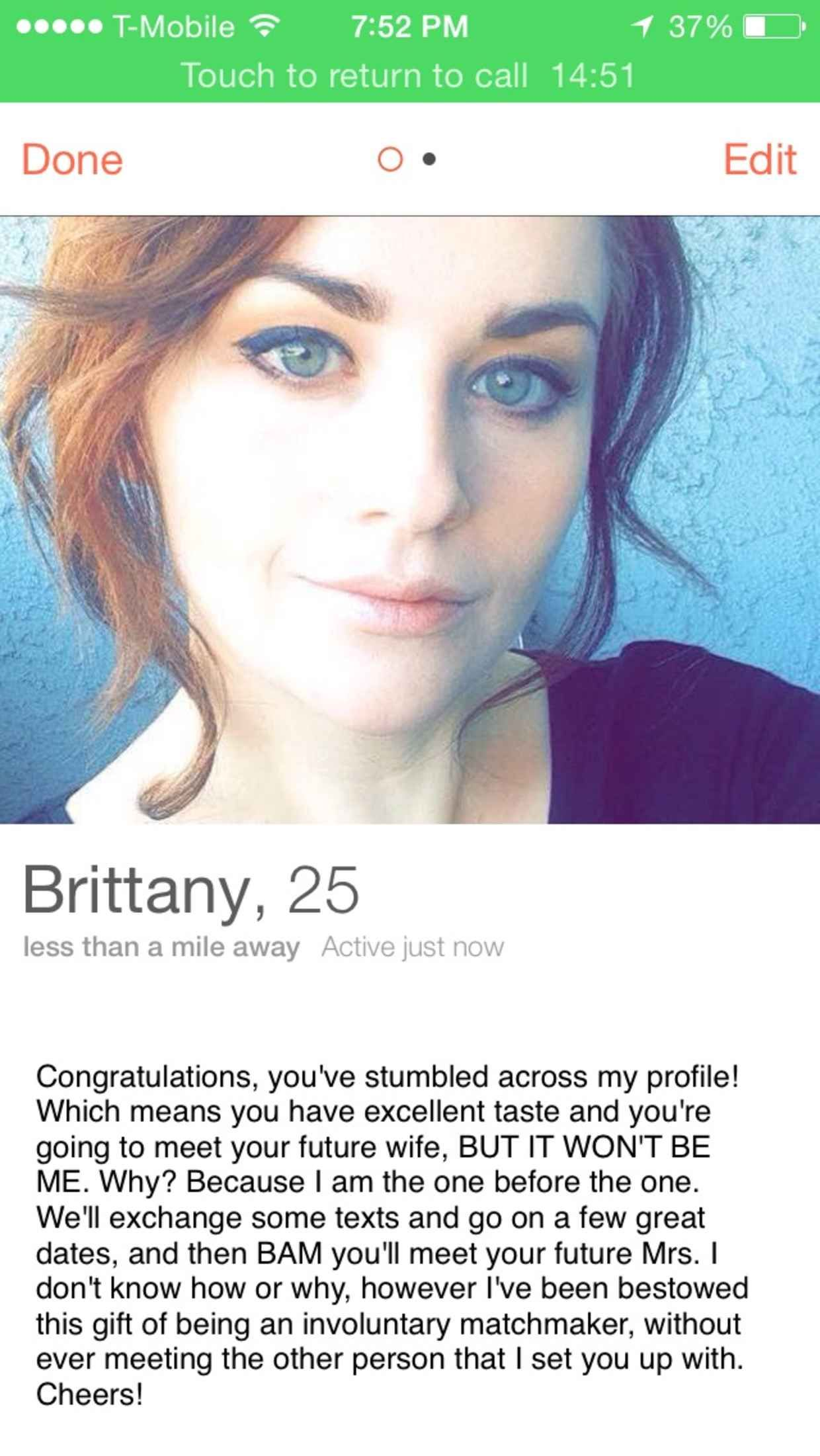 how to make a good dating profile bio Optimizing your profile, applying tinder dating tips and using good opening lines are the keys to success don't leave the bio empty it's not a good time to.