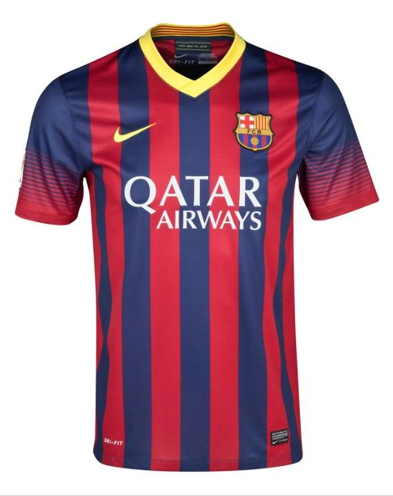 13-14 wholesale Barcelona Home Soccer Jersey Shirt  fe5b36c6f