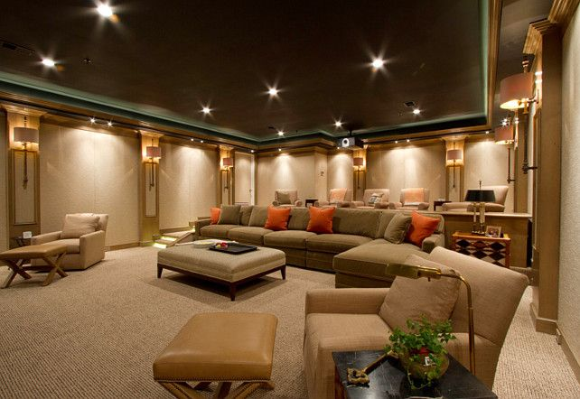 Home Theater Design. Home Theater Carpeting. Home Theater Layout. Home  Theater Furniture Layout.