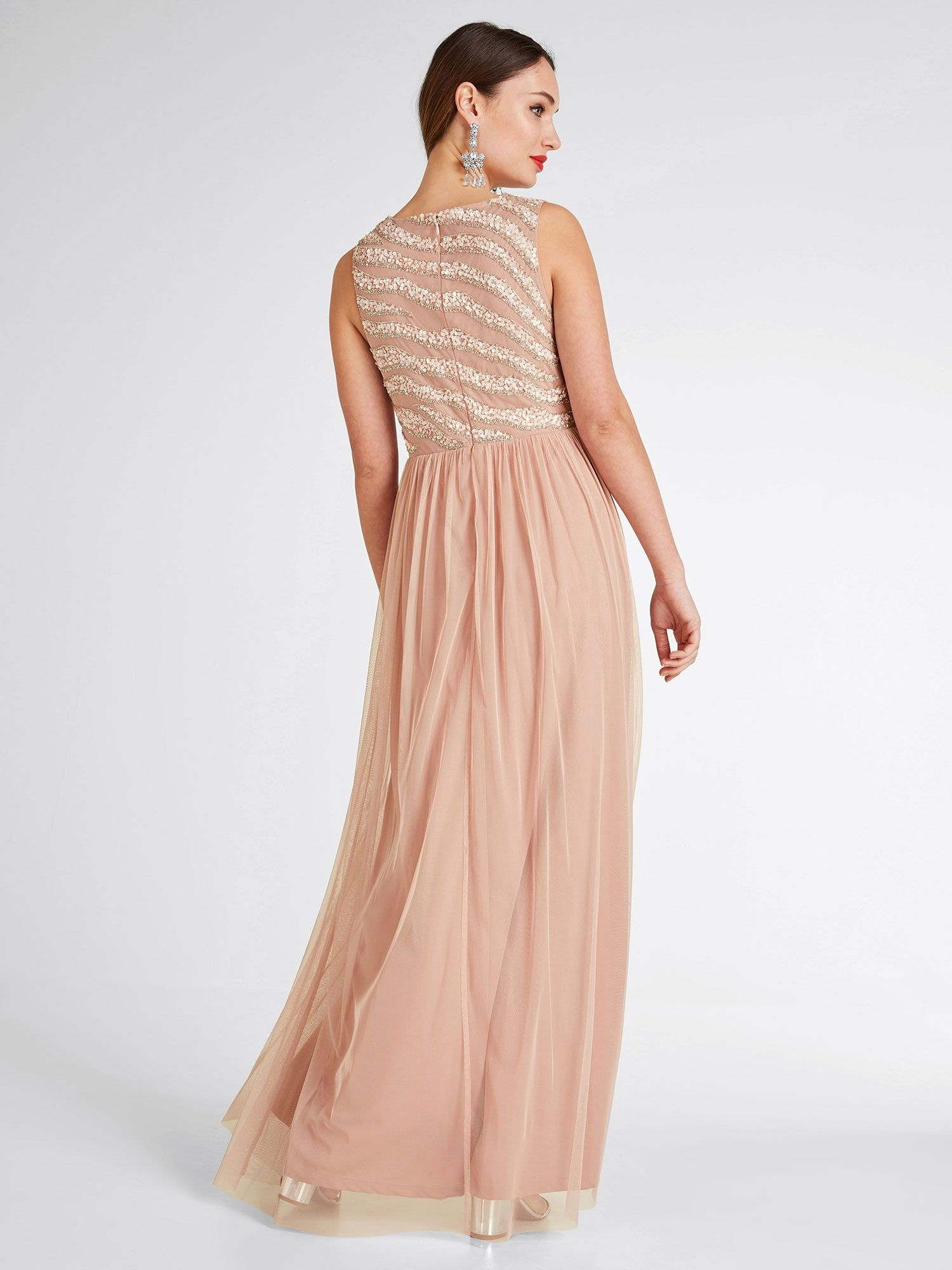 Heine Abendkleid Damen, Rosé, Größe 14  Abendkleid, Kleider