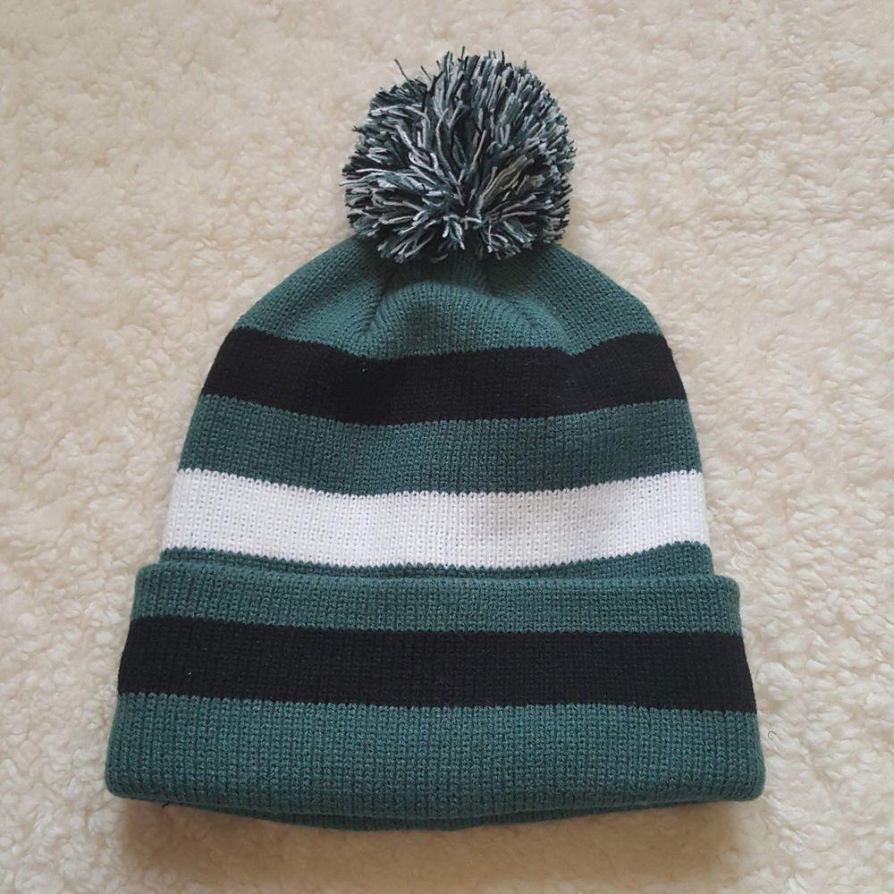 071db3f0fb9d0 Philadelphia Eagles Colors Pom Pom Beanie Hat Unisex Adult Men s Women s NEW   PhiladelphiaEagles  winter  fall  hat  cap