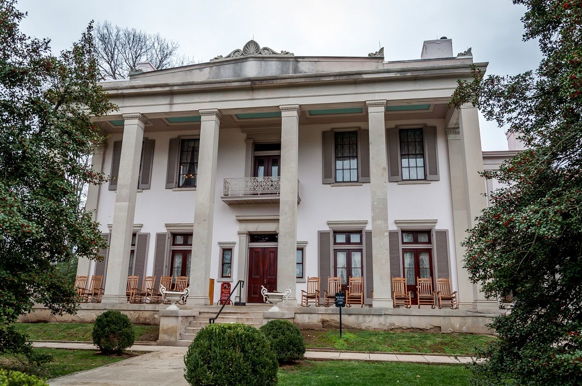 Belle Meade mansion in Nashville was remodeled in the Greek-Revival style