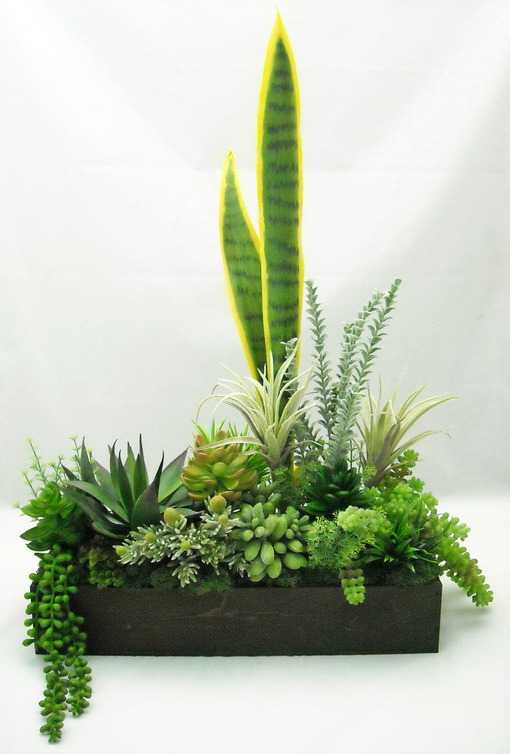 Tall Lush Silk Succulent Arrangement in 16 by BranchofLifeSilks ...